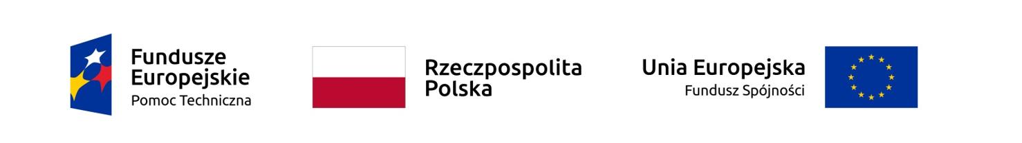 Logotypy Funduszy Europejskich, Rzeczpospolitej Polskiej oraz Unii Europejskiej